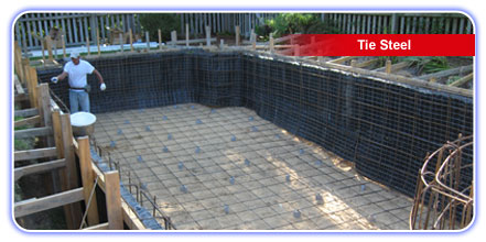Parker Pools New Spa Construction - Tie Steel